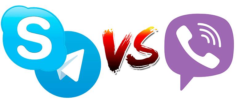 Skype Telegram или Viber кто лучше Плюсы минусы