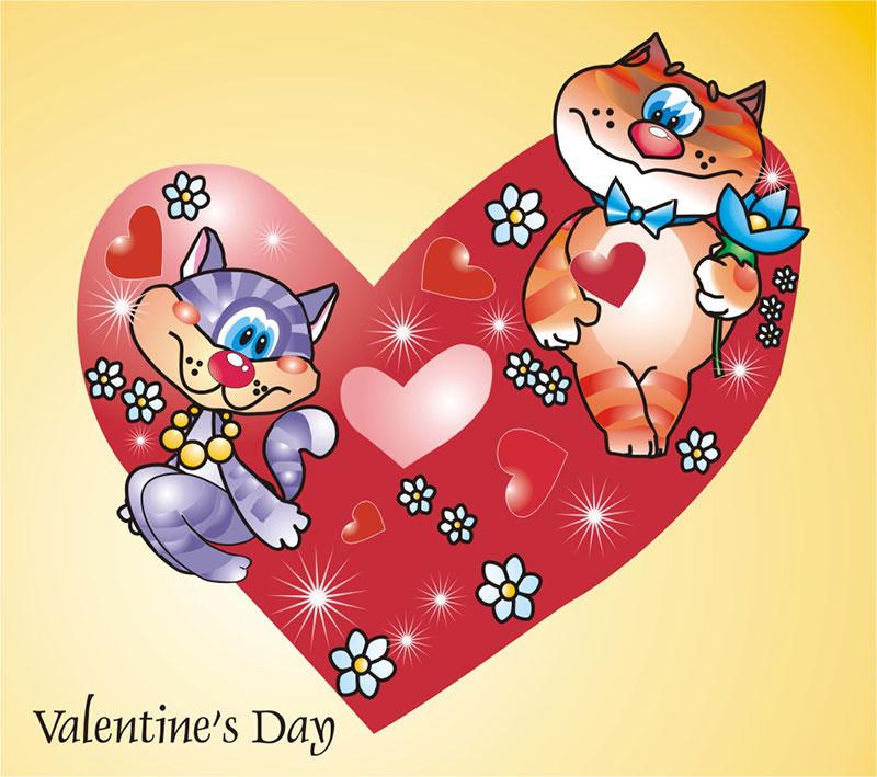 Восьмым марта, картинка валентинки на 14 февраля