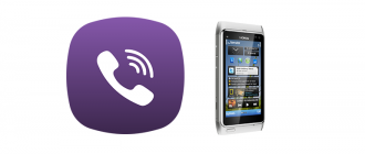 Viber на Nokia N8 logo